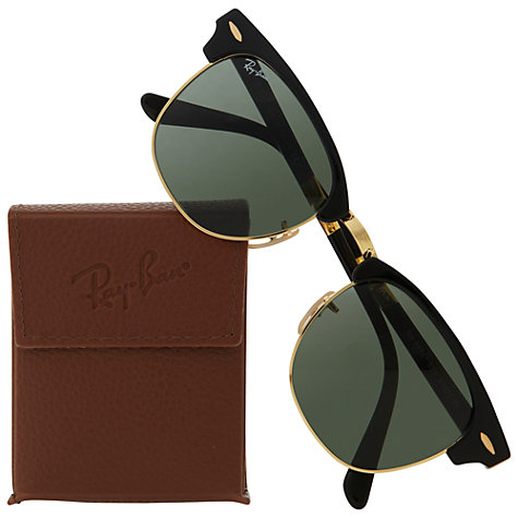 Buy Ray-Ban RB2176 Polarised Folding Clubmaster Sunglasses Online at johnlewis.com