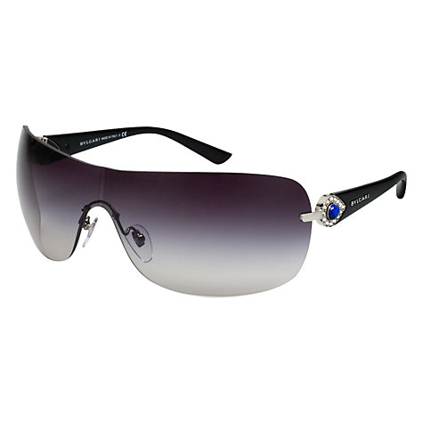 Buy Bvlgari BV6067B 102/8G Wraparound Frameless Visor Sunglasses, Grey Online at johnlewis.com