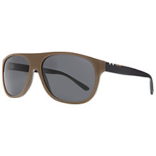 Buy Burberry BE4143 Thick Square Frame Sunglasses, Brown Online at johnlewis.com