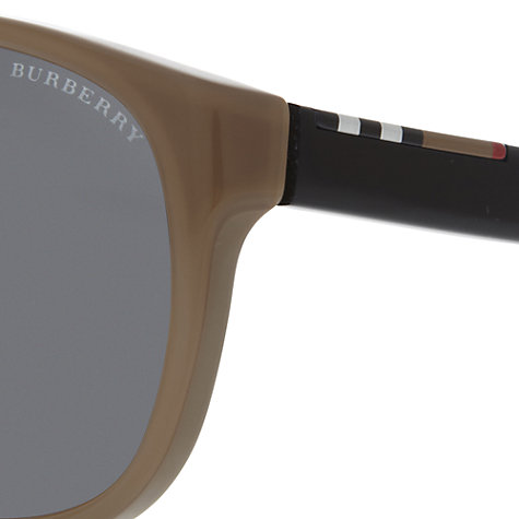 Buy Burberry BE4143 339587 Acetate Frame Sunglasses, Brown Online at johnlewis.com