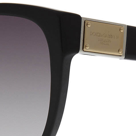 Buy Dolce & Gabbana DG4195 Cat's Eye Sunglasses, Black Online at johnlewis.com