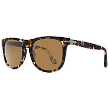 Buy Persol PO3055s D-Frame Polarised Sunglasses, Tobacco Online at johnlewis.com