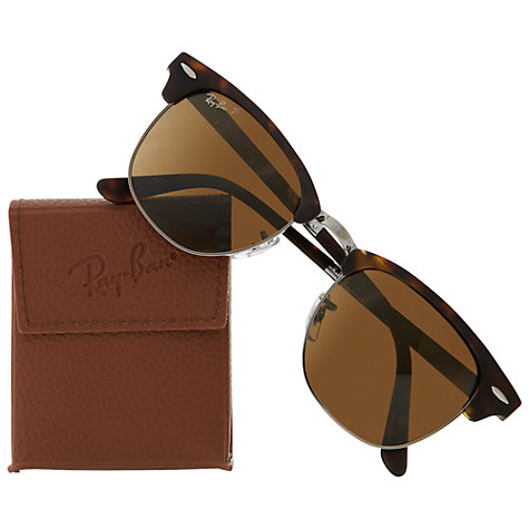 Buy Ray-Ban RB2176 901 Polarised Folding Clubmaster Sunglasses Online at johnlewis.com