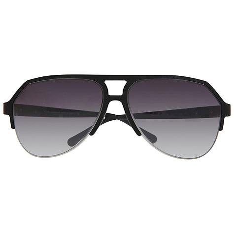 Buy Dolce & Gabbana DG2130 Aviator Sunglasses, Black Online at johnlewis.com