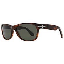 Buy Persol PO2953S 108/58 Polarized Acetate Rectangular Sunglasses, Caffé Online at johnlewis.com