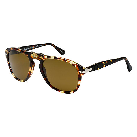Buy Persol PO0649 Round Acetate Frame Polarised Sunglasses Online at johnlewis.com