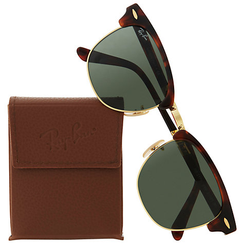 Buy Ray-Ban RB2176 990 Folding Club Master Sunglasses, Tortoiseshell Online at johnlewis.com