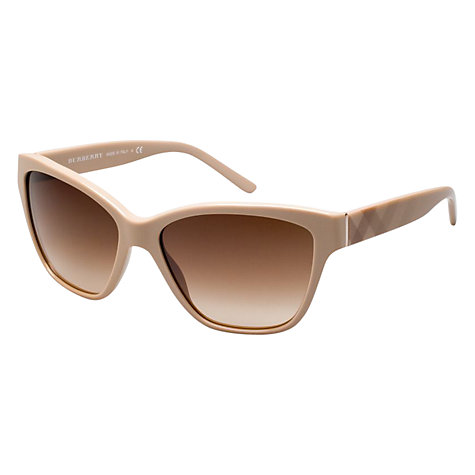 Buy Burberry BE4109 337613 Square Frame Sunglasses, Pale Brown Online at johnlewis.com