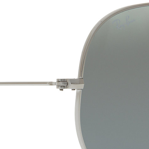 Buy Ray-Ban RB3025 Polarised Aviator Sunglasses, Silver Online at johnlewis.com