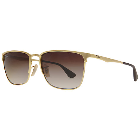 Buy Ray-Ban RB3508 001/13 Wayfarer Arista Sunglasses, Brown Online at johnlewis.com
