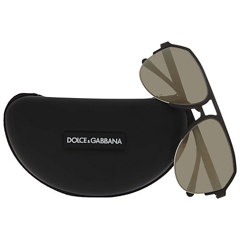 Buy Dolce & Gabbana DG2130 Aviator Sunglasses, Grey Online at johnlewis.com