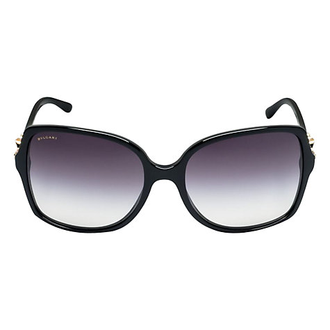 Buy Bvlgari BV8120B Oversized Square Frame Diamanté Arm Sunglasses Online at johnlewis.com