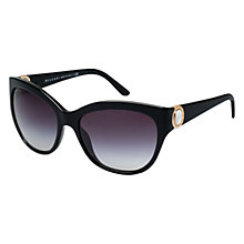 Buy Bvlgari BV8121 Cat's Eye Sunglasses, Black Online at johnlewis.com