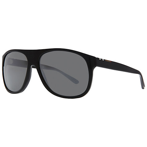Buy Burberry BE4143 33966 Thick Square Frame Sunglasses, Black Online at johnlewis.com