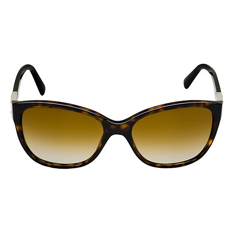 Buy Dolce & Gabbana DG4195 502/T5 Cat's Eye Polarised Sunglasses, Havana Online at johnlewis.com