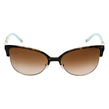 Buy Tiffany & Co TF4080 81343b Cat's Eye Sunglasses, Havana Online at johnlewis.com