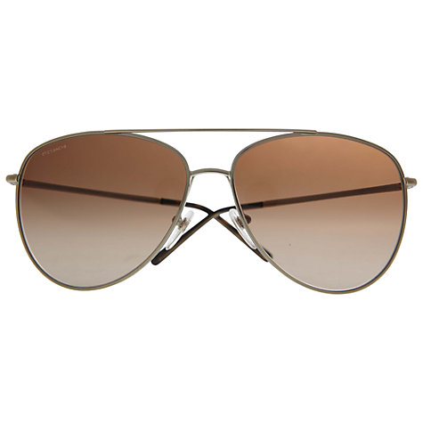 Buy Burberry BE3072 114513 Aviator Sunglasses, Brown Online at johnlewis.com