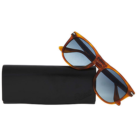 Buy Persol PO3055s D-Frame Polarised Sunglasses, Terracotta Online at johnlewis.com