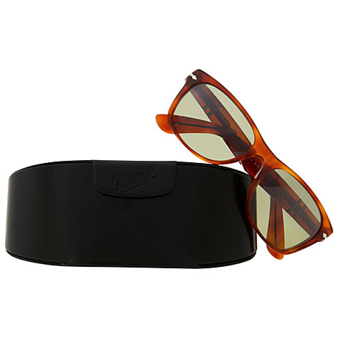 Buy Persol PO2953S 96/83 Photo-Polarised Rectangular Acetate Framed Sunglasses, Terra di Siena Online at johnlewis.com