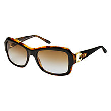 Buy Ralph Lauren RL8107Q 5260T5 Square Framed Polarised Sunglasses, Black Tortoiseshell Online at johnlewis.com