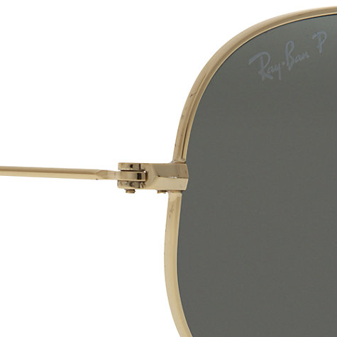 Buy Ray-Ban RB3025 Metal Polarised Aviator Sunglasses Online at johnlewis.com