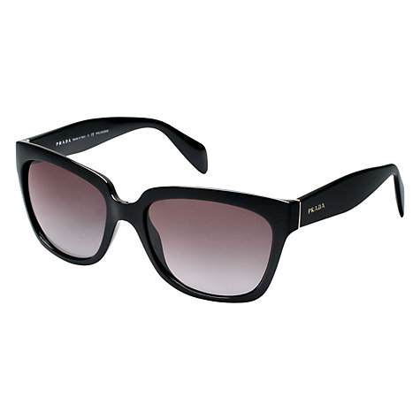 Buy Prada PR07PS Polarised D-Frame Sunglasses, Black Online at johnlewis.com