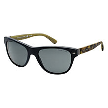 Buy Ralph Lauren PH3082  924573 Acetate Sunglasses, Black/Yellow Online at johnlewis.com