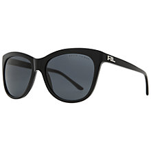 Buy Ralph Lauren RLl8105 500187 Cat's Eye Acetate Frame Sunglasses, Black Online at johnlewis.com
