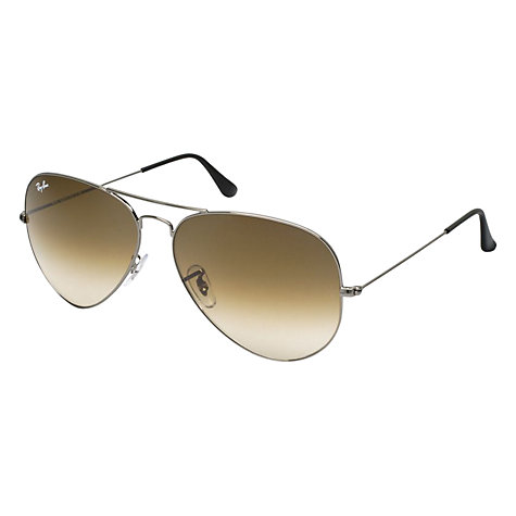 Buy Ray-Ban RB3025 Large Metal Aviator Sunglasses, Gunmetal Online at johnlewis.com