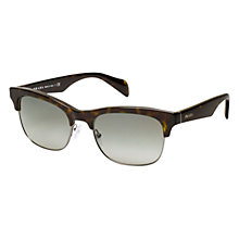 Buy Prada PR11PS 2AU3M1 D-Frame Sunglasses, Grey Online at johnlewis.com