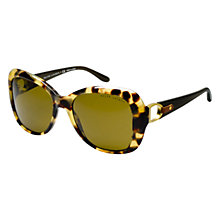 Buy Ralph Lauren RL8108Q 500473 Square Framed Sunglasses, Tortoiseshell Online at johnlewis.com