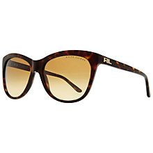 Buy Ralph Lauren RL8107Q 500187 Oversized Cat's Eye Acetate Frame Sunglasses, Dark Havana Online at johnlewis.com