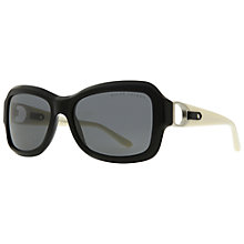 Buy Ralph Lauren RL8107Q 500187 Square Framed Acetate Sunglasses, Black Online at johnlewis.com
