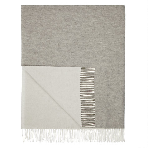 Buy John Lewis Croft Collection Cashmere Mix Reversible Throw Online at johnlewis.com