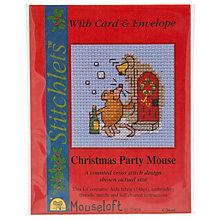 Buy Mouseloft Christmas Party Mouse Cross Stitch Kit with Card and Envelope Online at johnlewis.com