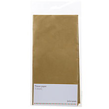Buy John Lewis Metallic Tissue Paper, Gold Online at johnlewis.com