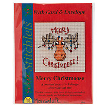 Buy Mouseloft Merry Christmoose Cross Stitch Kit with Card and Envelope Online at johnlewis.com