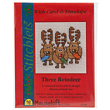 Buy Mouseloft Three Reindeer Cross Stitch Kit with Card and Envelope Online at johnlewis.com