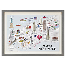 Buy Alice Tait - New York Map Framed Print, 34 x 47cm Online at johnlewis.com
