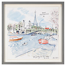 Buy Alice Tait - Busy Day On La Siene Framed Print, 43 x 43cm Online at johnlewis.com