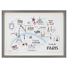 Buy Alice Tait - Paris Map Framed Print, 34 x 47cm Online at johnlewis.com