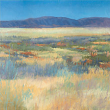 Buy Jeannie Sellmer - Summer Fields with Mountains Print on Canvas, 50 x 50cm Online at johnlewis.com