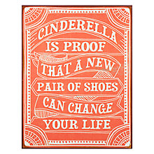 Buy John Lewis Cinderella Is Proof Metal Plaque, 30 x 39cm Online at johnlewis.com