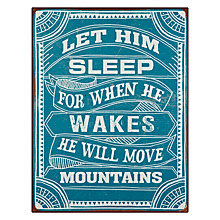 Buy John Lewis Let Him Sleep Framed Plaque, 30 x 39cm Online at johnlewis.com