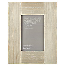 "Buy John Lewis Limed Wood Table Photo Frame, Natural, 4 x 6"" (10 x 15cm) Online at johnlewis.com"
