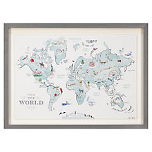 Buy Alice Tait - World Map Framed Print, 34 x 47cm Online at johnlewis.com