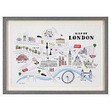 Buy Alice Tait - London Map Framed Print, 34 x 47cm Online at johnlewis.com