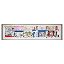 Buy Alice Tait - Row of Shops Framed Print, 47 x 100cm Online at johnlewis.com