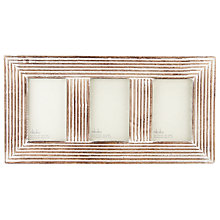 "Buy Nkuku Fundo Wood Multi-aperture Frame, 3 Photo, 4 x 6"" (10 x 15cm) Online at johnlewis.com"