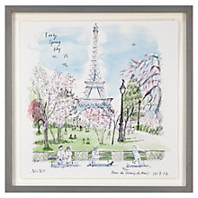 Buy Alice Tait - Parc Du Champ De Mars Framed Print, 43 x 43cm Online at johnlewis.com